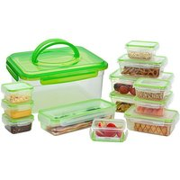 Hi-Gear 13 Piece Compact Food Storage Set, GREEN/BO