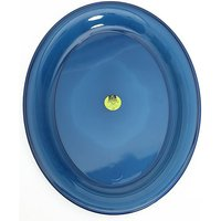 AIRGO Deluxe Large Plastic Plate, BRIGHT BLUE