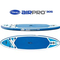 CLEVER AIPRO 305 Inflatable Stand Up Paddleboard, BLUE