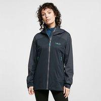 RAB Womens Kinetic Alpine Waterproof Jacket, DARK GREY