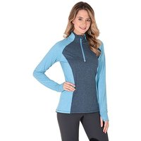 NOBLE OUTFIT Women's Athena ¼ Zip Top, BLUE