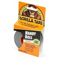 GORILLA Tape, Handy Roll (25mm x 9.1m), BLACK/ROLL