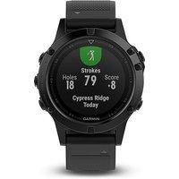 Garmin fenix 5 Sapphire Multisport GPS Watch, BLACK-SAPPHIRE