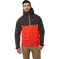 CRAGHOPPERS Men's Trelawney Waterproof Jacket, BLACK RED/JACKET