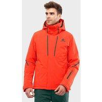 Salomon Men's Stormseason Ski Jacket, ORG/ORG