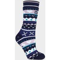 HEAT HOLDERS Women's SOUL WARMING Dual Layer Slipper Socks, NAV/NAV
