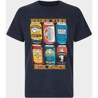WEIRD FISH Men's '6 Pack Beer Cans' Artist T-Shirt, D/D