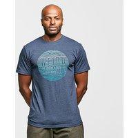 WEIRD FISH Men's Sunset T-Shirt, Navy Blue/NVY