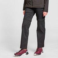CRAGHOPPERS Womens Kiwi Pro Convertible Trousers (Short), Black/BLK