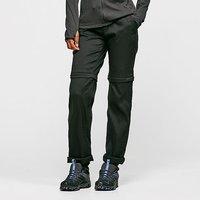 CRAGHOPPERS Womens Kiwi Pro Convertible Trousers (Long), Black/BLK