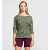 REGATTA Women's Polina Long Sleeve T-Shirt, Green/KHK