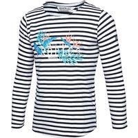 REGATTA Kids' Carmella Striped Long Sleeve T-Shirt, Navy/NVY