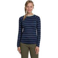 Berghaus Women's Striped Long Sleeve 2.0 T-Shirt, Navy Blue/NVY