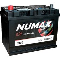 Numax LV22MF 12V 75Ah Sealed Leisure Battery, NO/NO