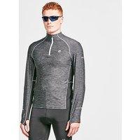 DARE 2B Men's Reacticate II Half Zip Cycling Jersey, Black/BLK