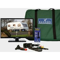 """FALCON TV Plus Pack - 24"""" LED, 12V & Mains with Freeview Antenna, BLK-NO"""
