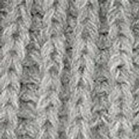 Grey Faux Fur Knitted Mittens