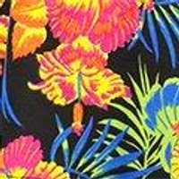 Hawaiian Tripical Tie Front Playsuit