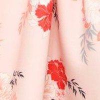 Nia Floral Scuba Frill Skirt Midi Skater Dress