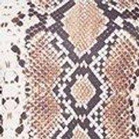 Ella Snake Print Bardot Bodycon Dress