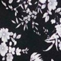 Corrine Mono Floral Long Sleeve Shift Dress
