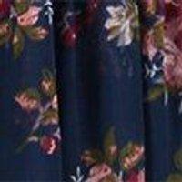 Anna Floral Tie Triple Frill Midi Dress
