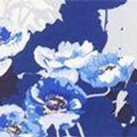 Mel Peplum Hem Blue Print Midi Dress