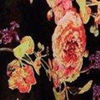 Mallory Chiffon Ruffle Floral Print Midi Dress