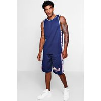 Americano Stars Panel Basketball Short Set