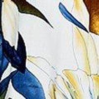 White Floral Print Short Sleeve Shirt