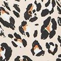 Plus Horn Button Puff Sleeve Leopard Shift Dress
