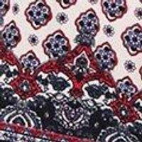 Plus Lena Tile Print Crochet Trim Playsuit