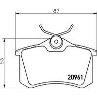 PAGID - Brake Pad Set, disc brake