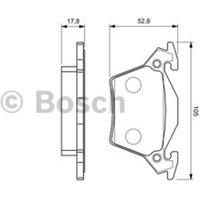 BOSCH - Kit de plaquettes de frein, frein à disque