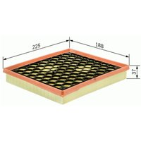 BOSCH - Filtre à air (F 026 400 042)