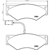 TEXTAR - Brake Pad Set, disc brake