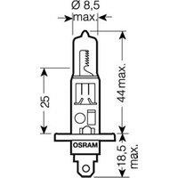 Ampoule halogène Osram Auto 64150NBU Night Breaker Unlimited H1 55 W 1 paire