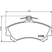 MINTEX - Brake Pad Set, disc brake