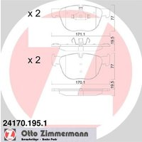 ZIMMERMANN - Brake Pad Set, disc brake