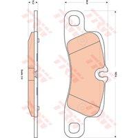 TRW - Brake Pad Set, disc brake