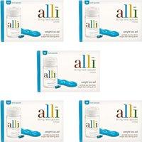 Alli Capsules - 5 Pack (EXP July 19)