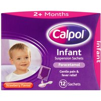 Calpol Infant Suspension  Sachets 12 x 5ml