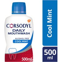 Corsodyl Gum Care Mouthwash Alcohol Free Daily Cool Mint 500ml