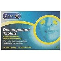 Care + Decongestant Tablets