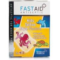 Fast Aid Antiseptic Kids Tattoo Style Plasters
