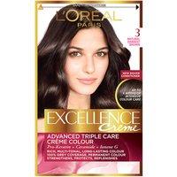 LOreal Excellence Creme 3 Natural Darkest Brown Permanent Hair Dye