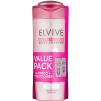 LOreal Paris Elvive Nutri-Gloss Shampoo and Conditioner Value Pack