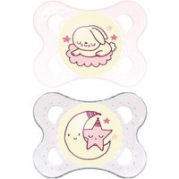 MAM Night 0+ Month Soother Pink
