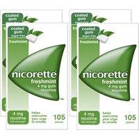 Nicorette 4mg Freshmint Gum - 420 Pieces
