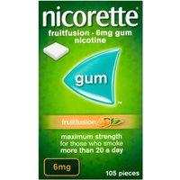 Nicorette Gum Fruitfusion 6mg 105's